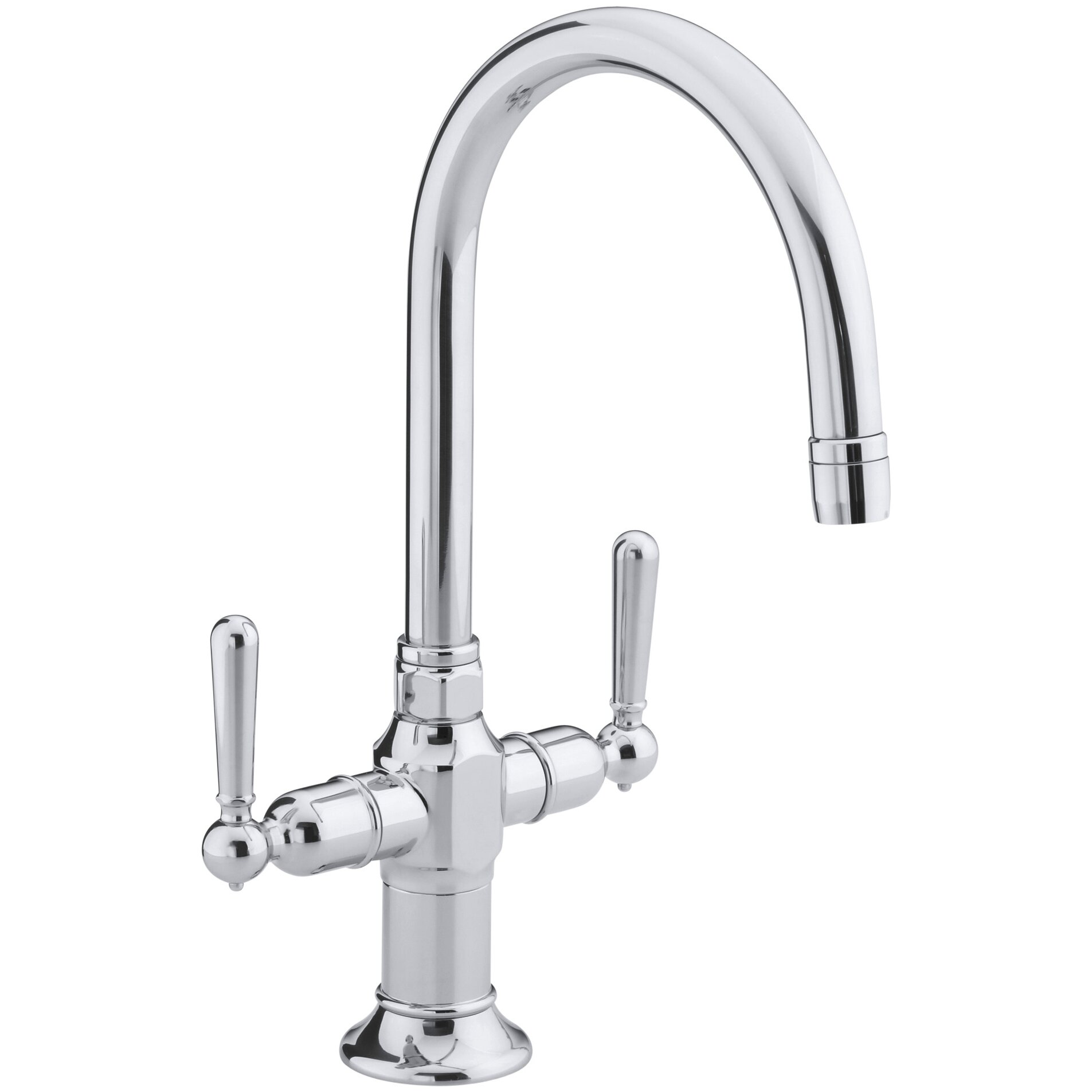 Kohler Bar Sink Faucet : Kohler Hirisesingle-Hole Bar Sink Faucet with Lever Handles