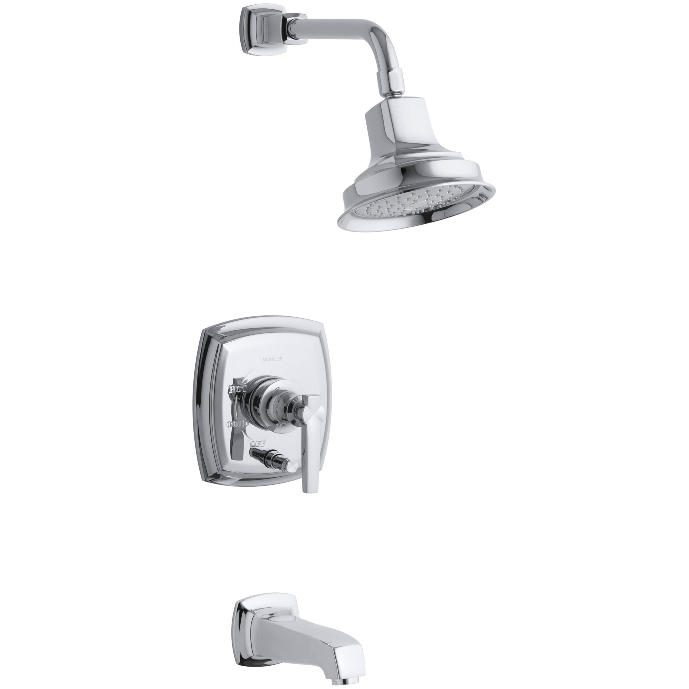 Margaux Rite-Temp Pressure-Balancing Bath and Shower Faucet Trim with ...