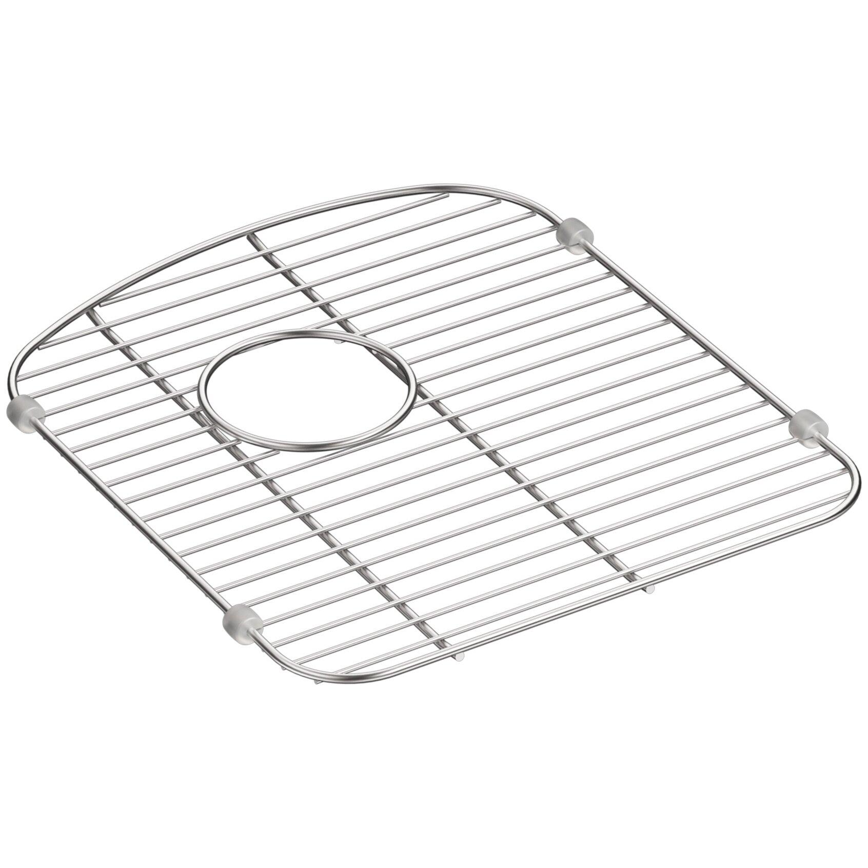 kohler langlade smart divide stainless steel sink rack for right hand bowl reviews wayfair. Black Bedroom Furniture Sets. Home Design Ideas
