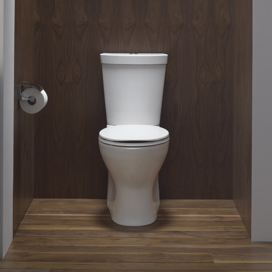 Kohler Toilets Reviews : Kohler Persuade Skirted Two-Piece Elongated Dual-Flush Toilet with Top ...