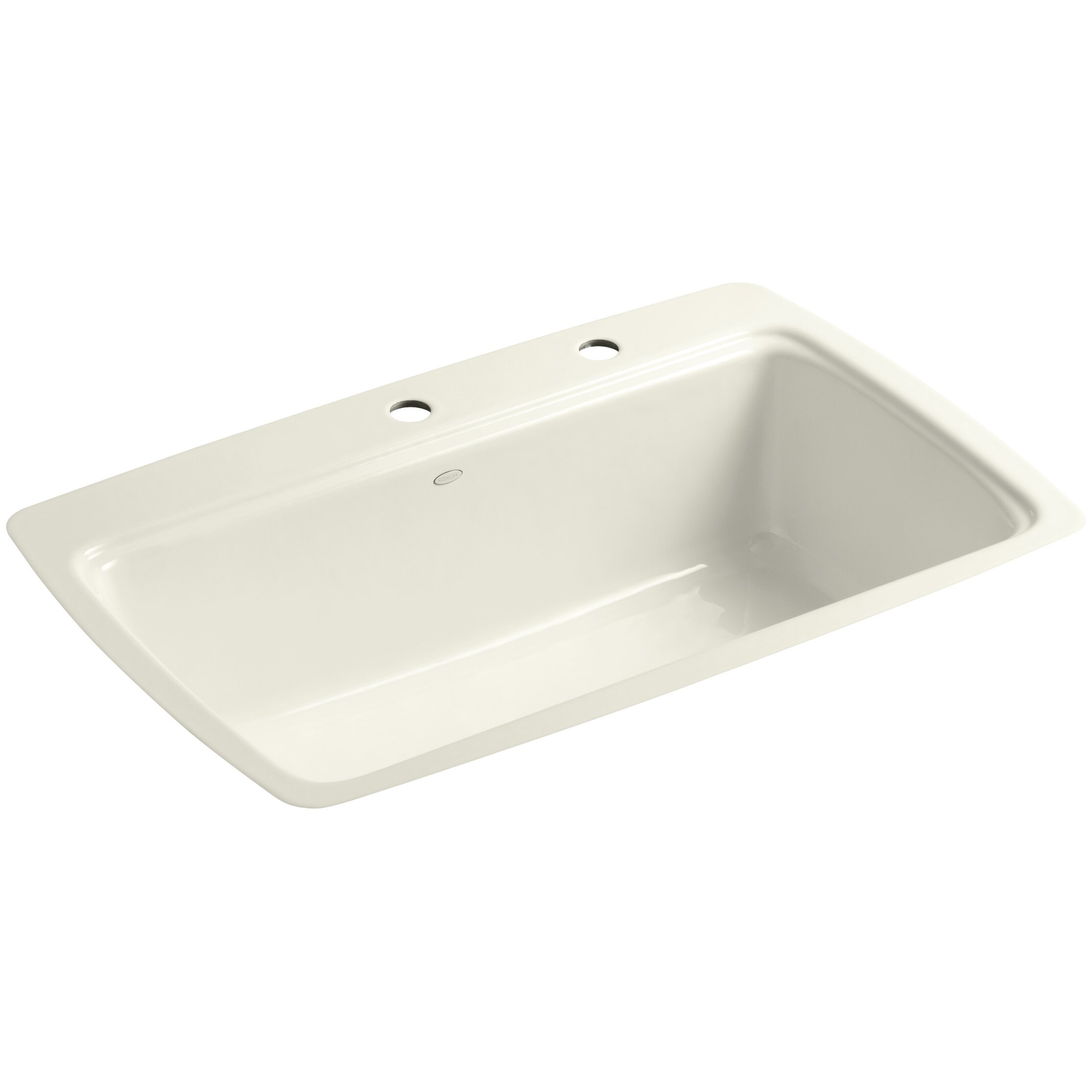 Kohler Cape Dory Tile-In Single-Bowl Kitchen Sink With 2