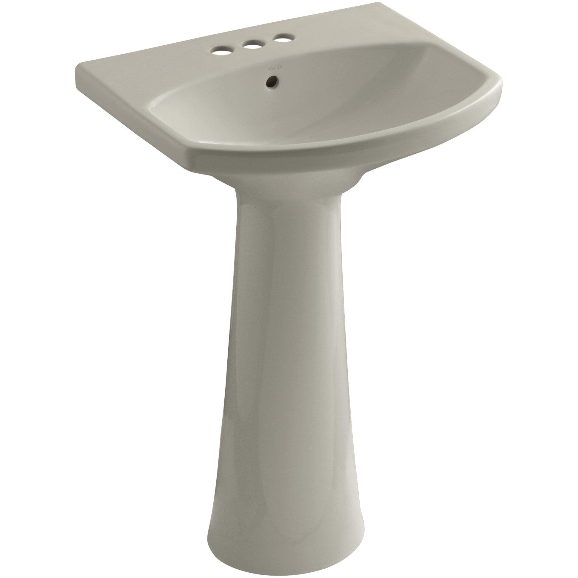 Kohler Cimarron Pedestal Bathroom Sink with 4