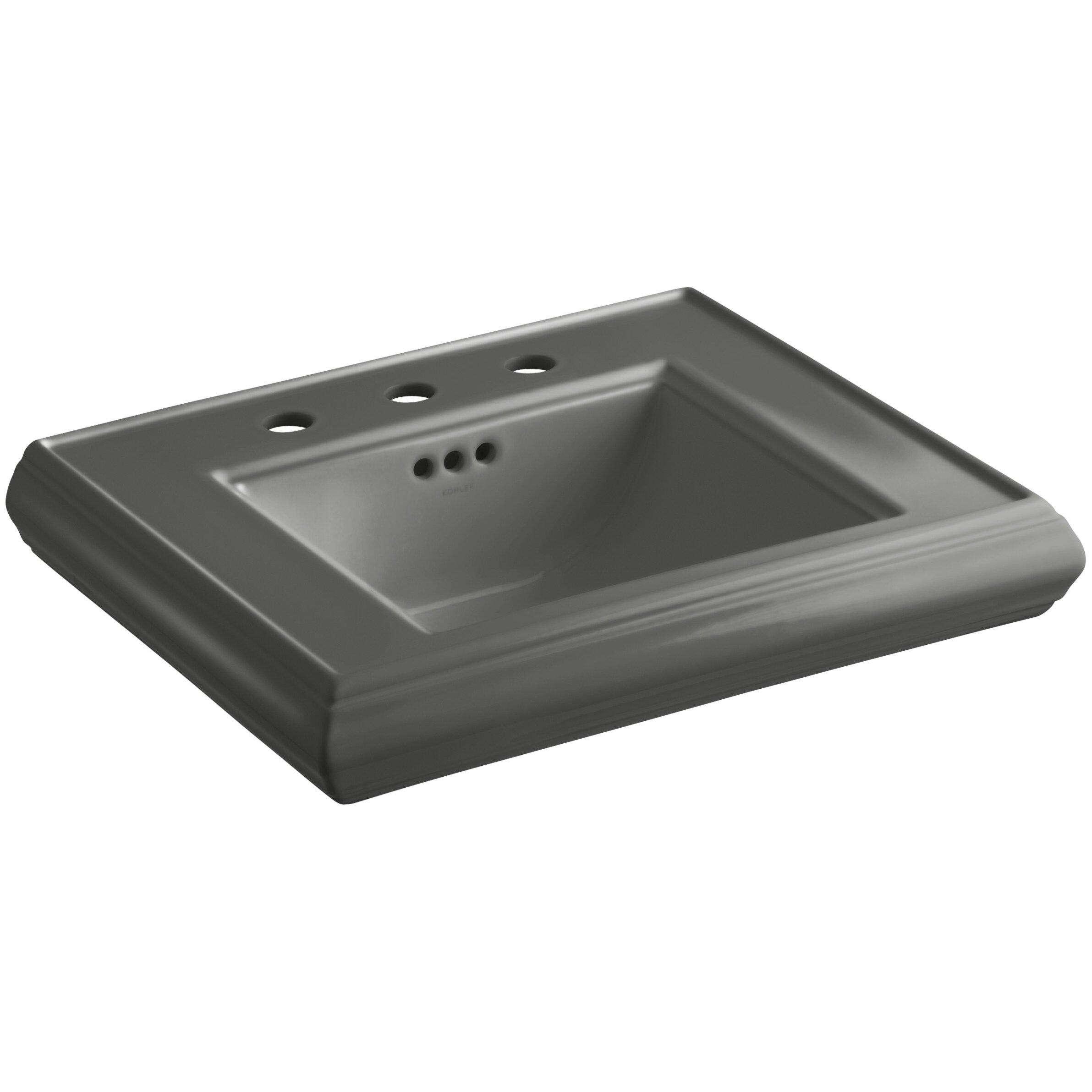 ... Pedestal Bathroom Sink Basin with 8