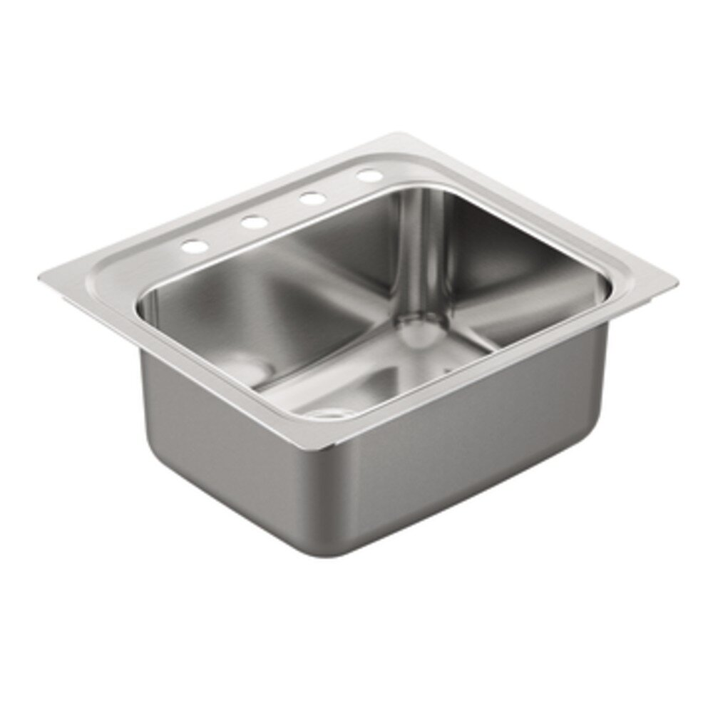 1800 Series Single Bowl Drop In Kitchen Sink