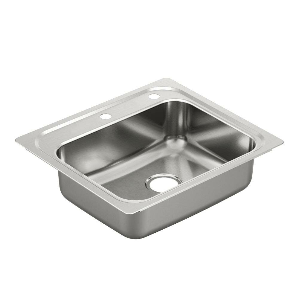 "Moen 1800 Series 25"" x 22"" Single Bowl Kitchen Sink"