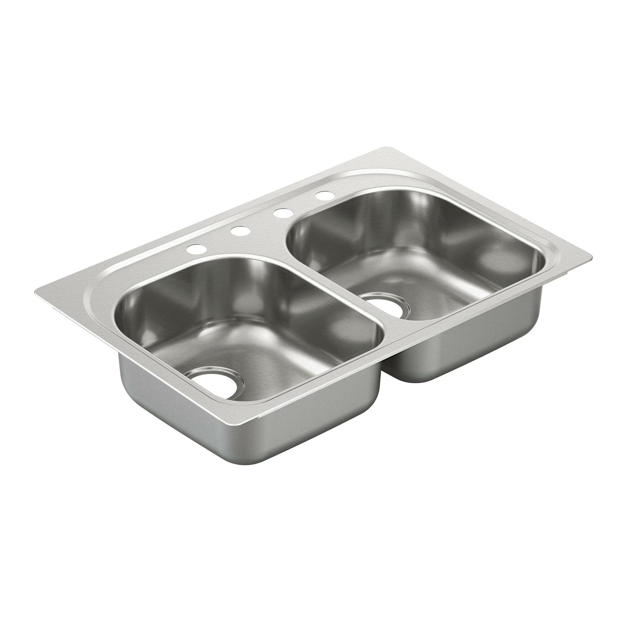 Drop In Kitchen Sinks Double Bowl : 2000 Series Double Bowl Drop-In Kitchen Sink Wayfair