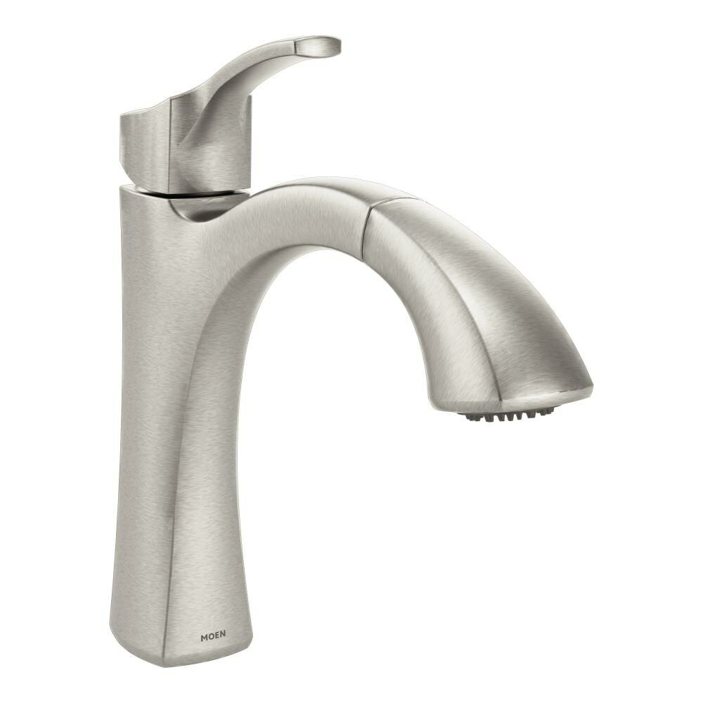 Moen Voss Single Handle Kitchen Faucet & Reviews