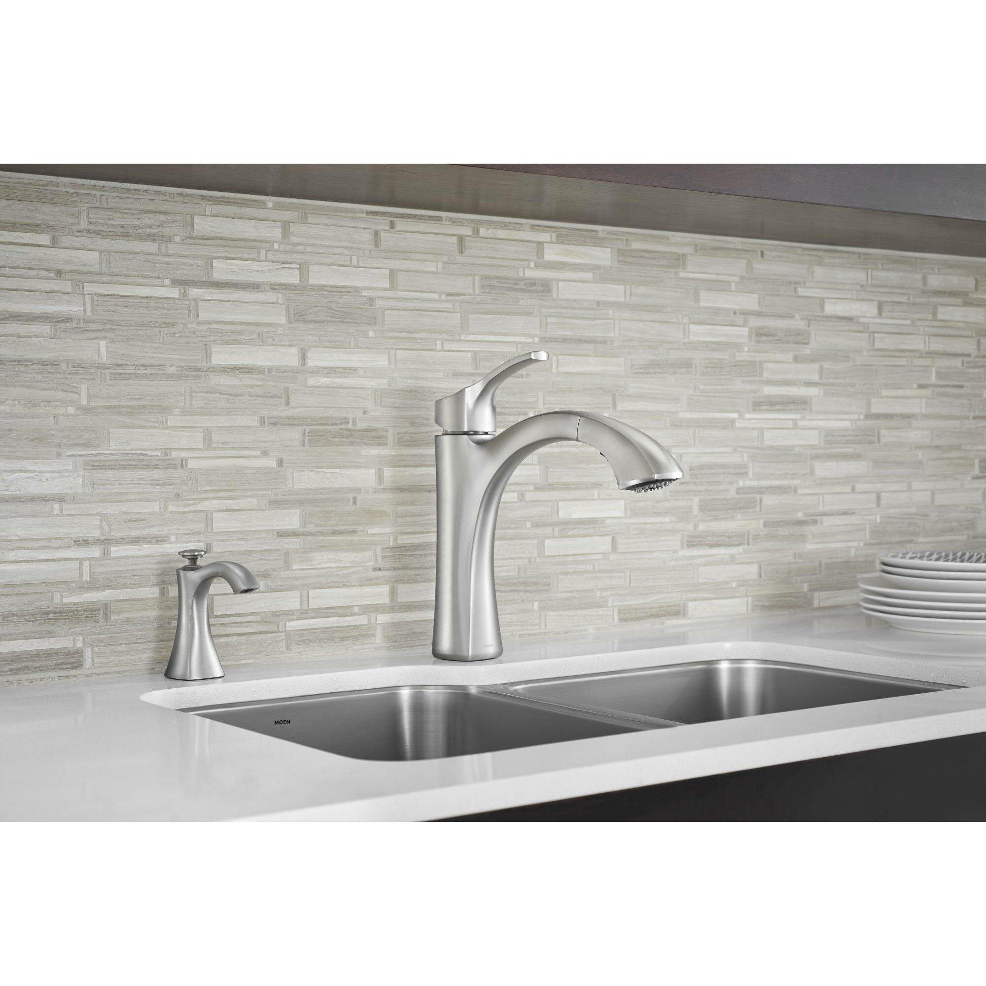 Moen Voss Single Handle Kitchen Faucet & Reviews
