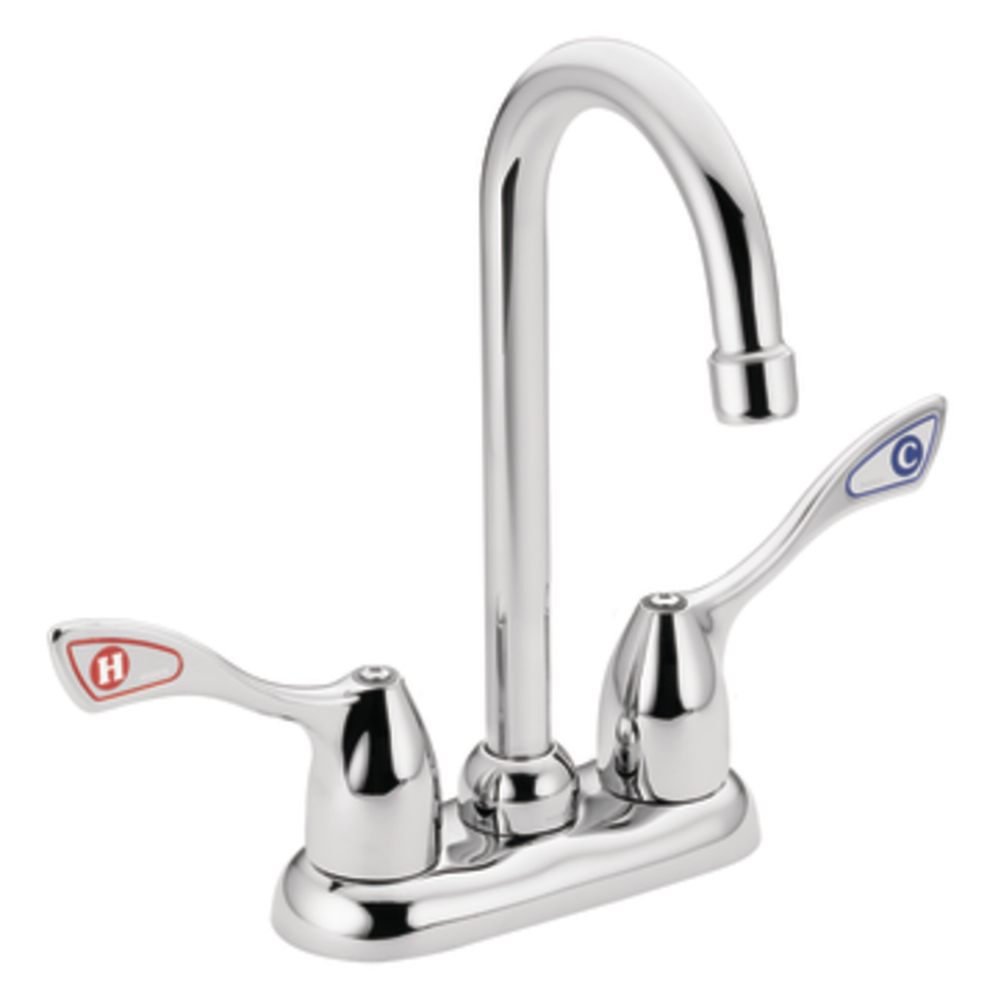 moen commercial double handle centerset kitchen faucet