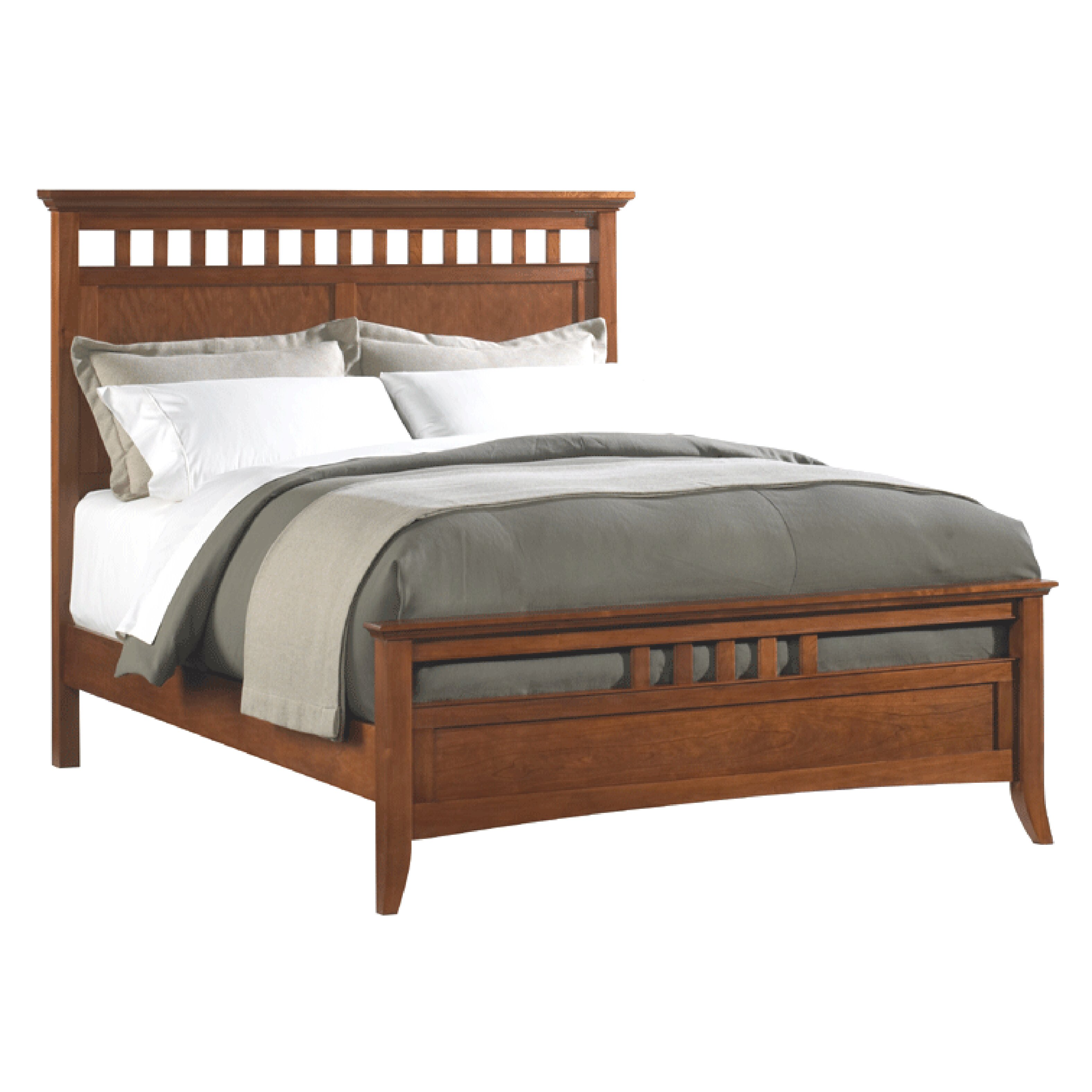 modern shaker wood headboard and footboard by darby home co