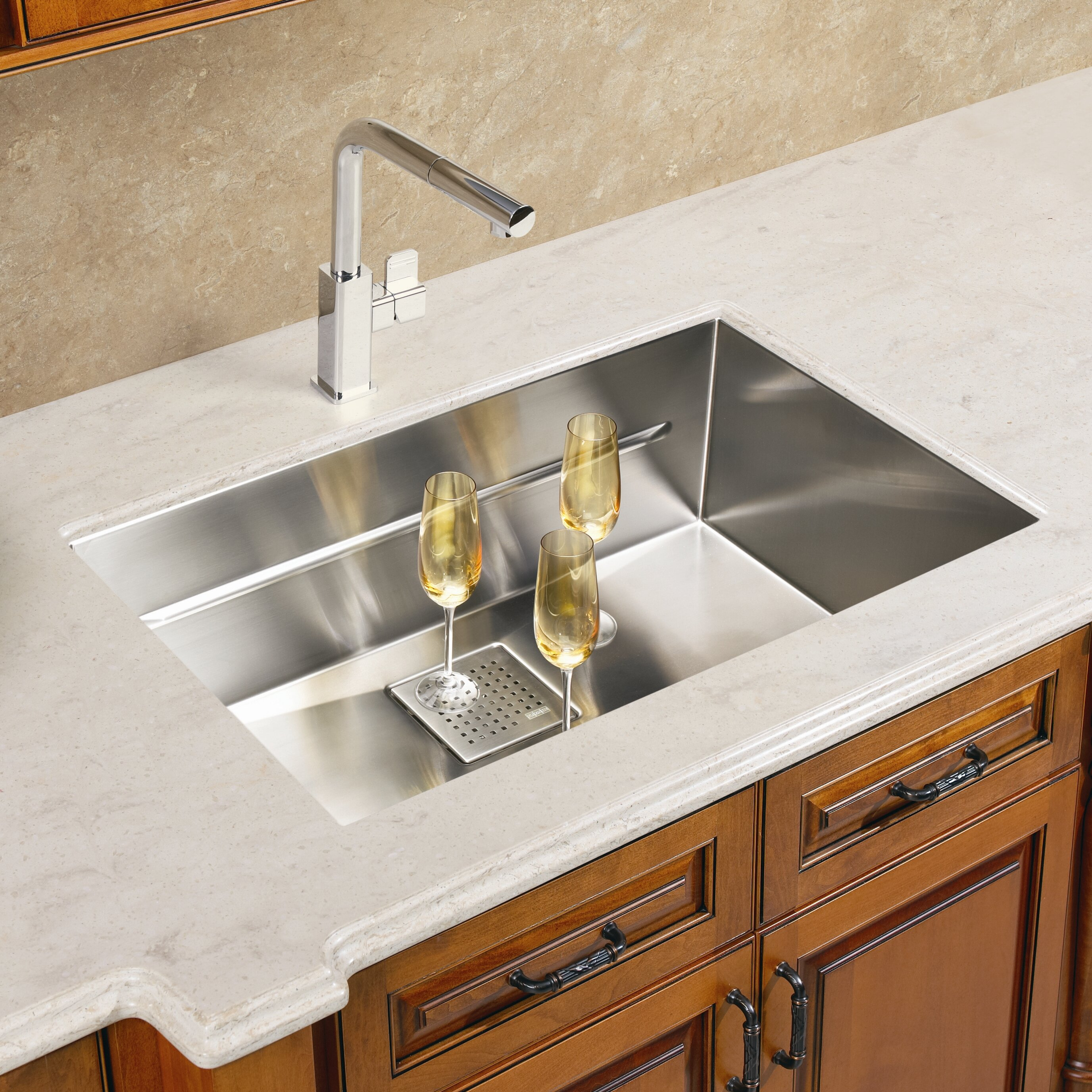 Franke Single Bowl Kitchen Sink : Franke Peak 17.75