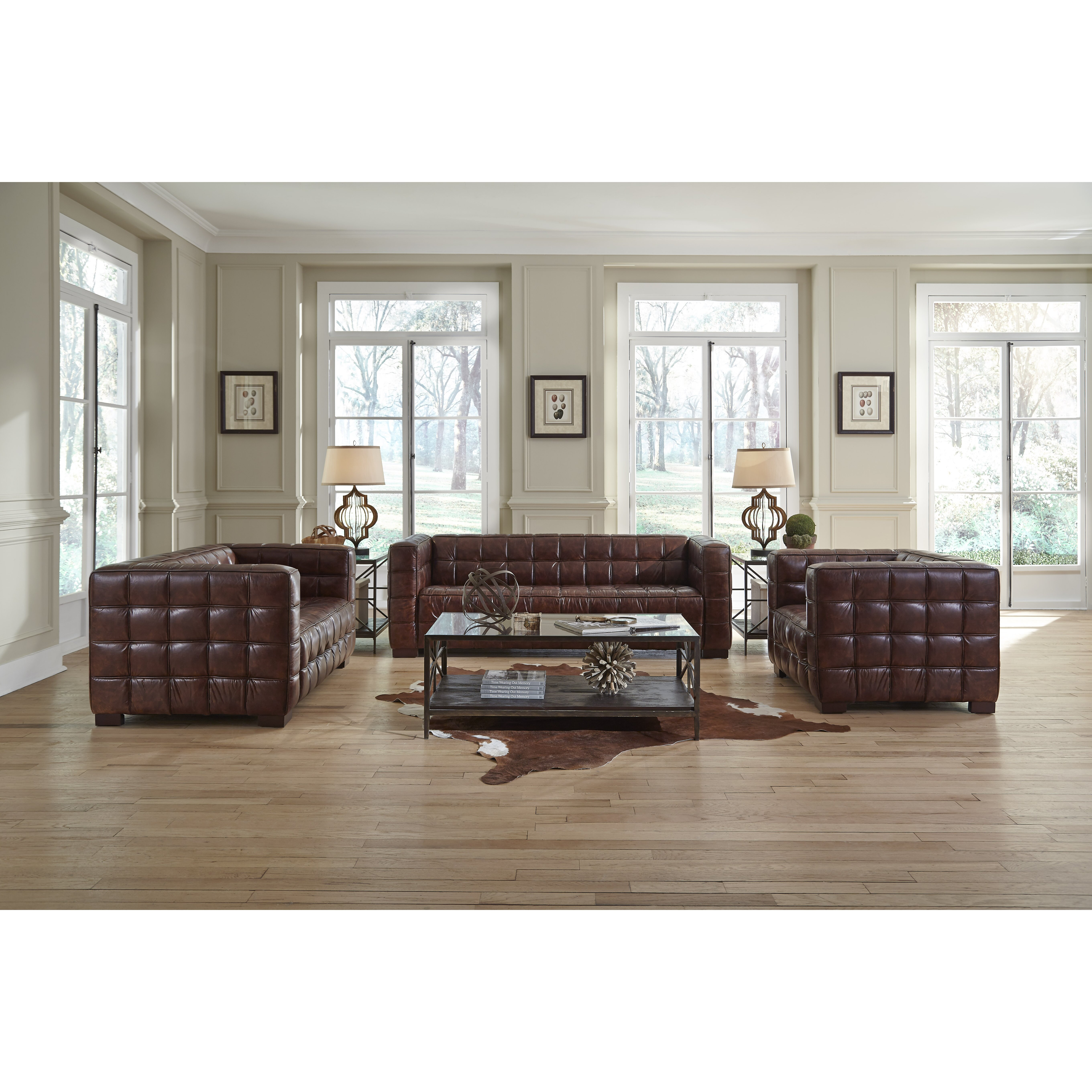 Lazzaro leather nautical living room collection reviews wayfair