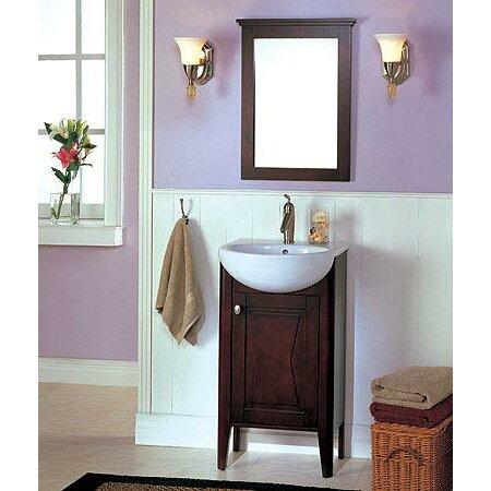Fairmont designs tuxedo 20 single complete bathroom vanity set with mirror reviews wayfair Complete bathroom vanity