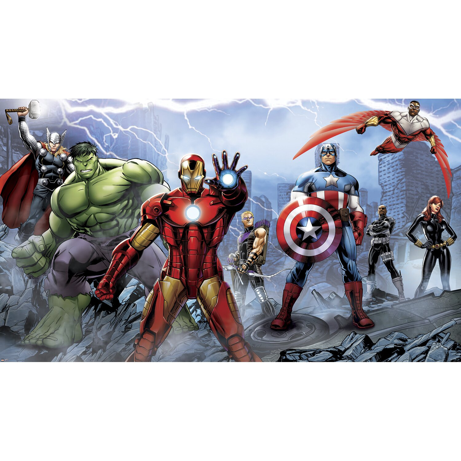 room mates prepasted avengers assemble wall mural room mates disney frozen prepasted wall mural amp reviews
