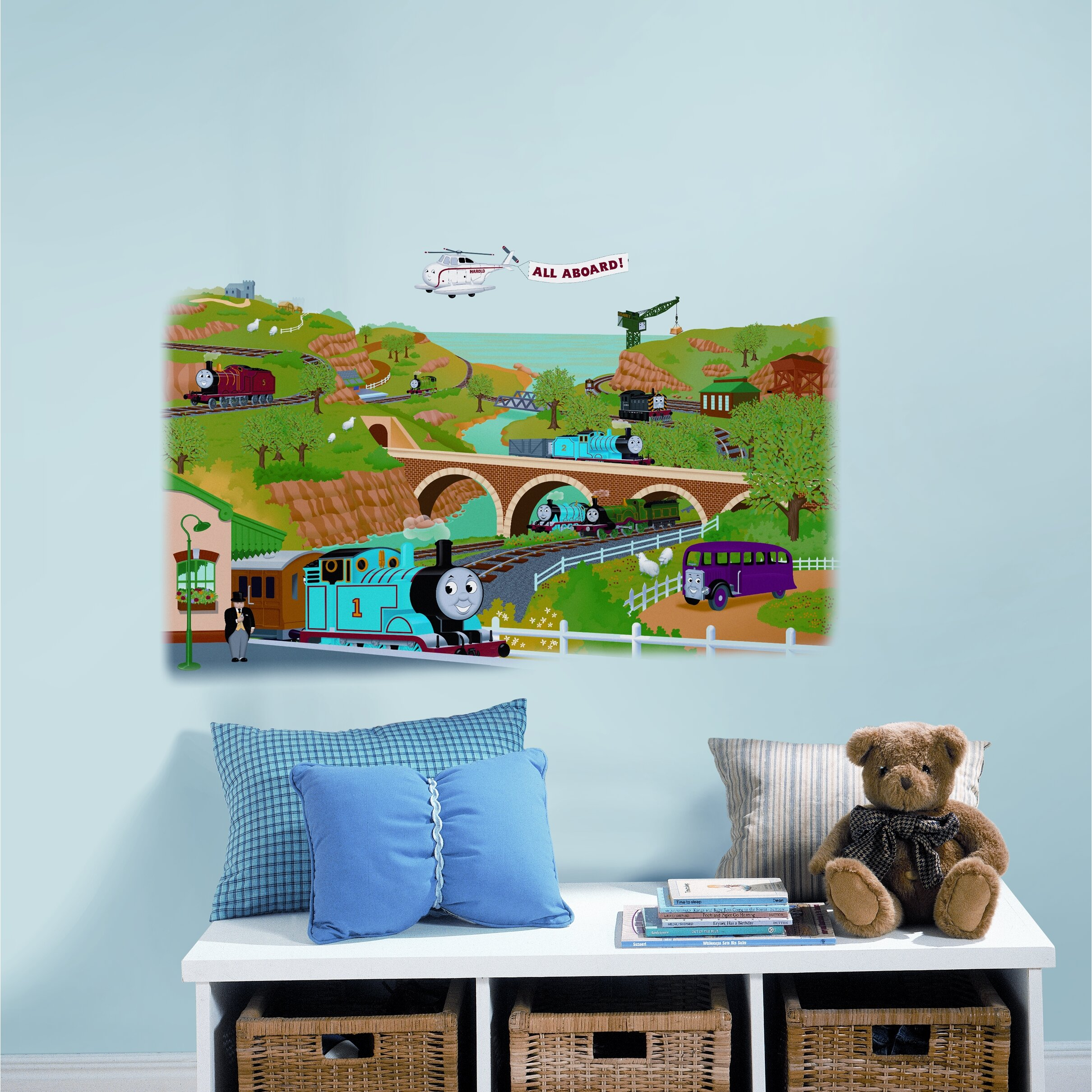 room mates favorite characters 2 piece thomas and friends. Black Bedroom Furniture Sets. Home Design Ideas