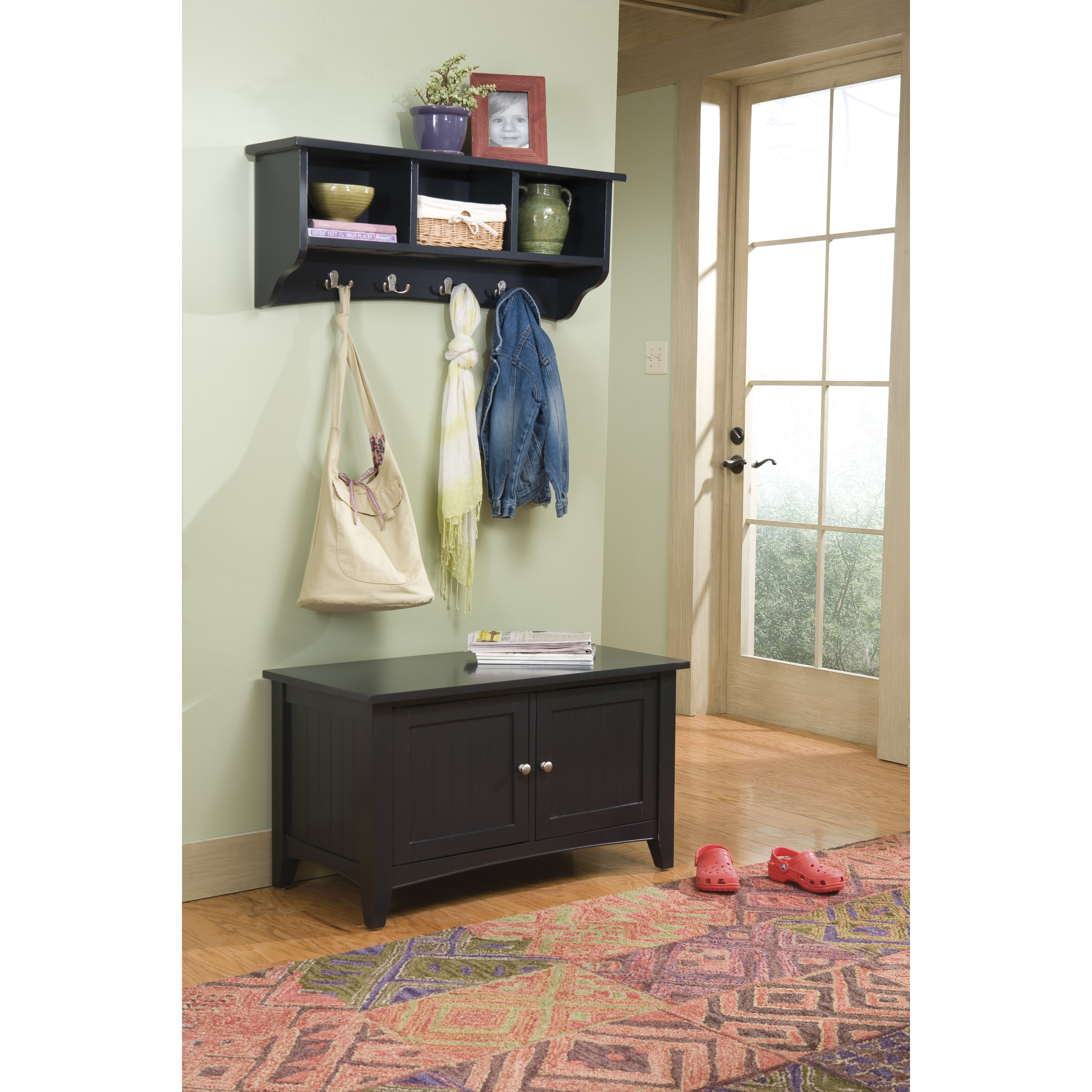 Alaterre Shaker Cottage Storage Hall Tree & Reviews