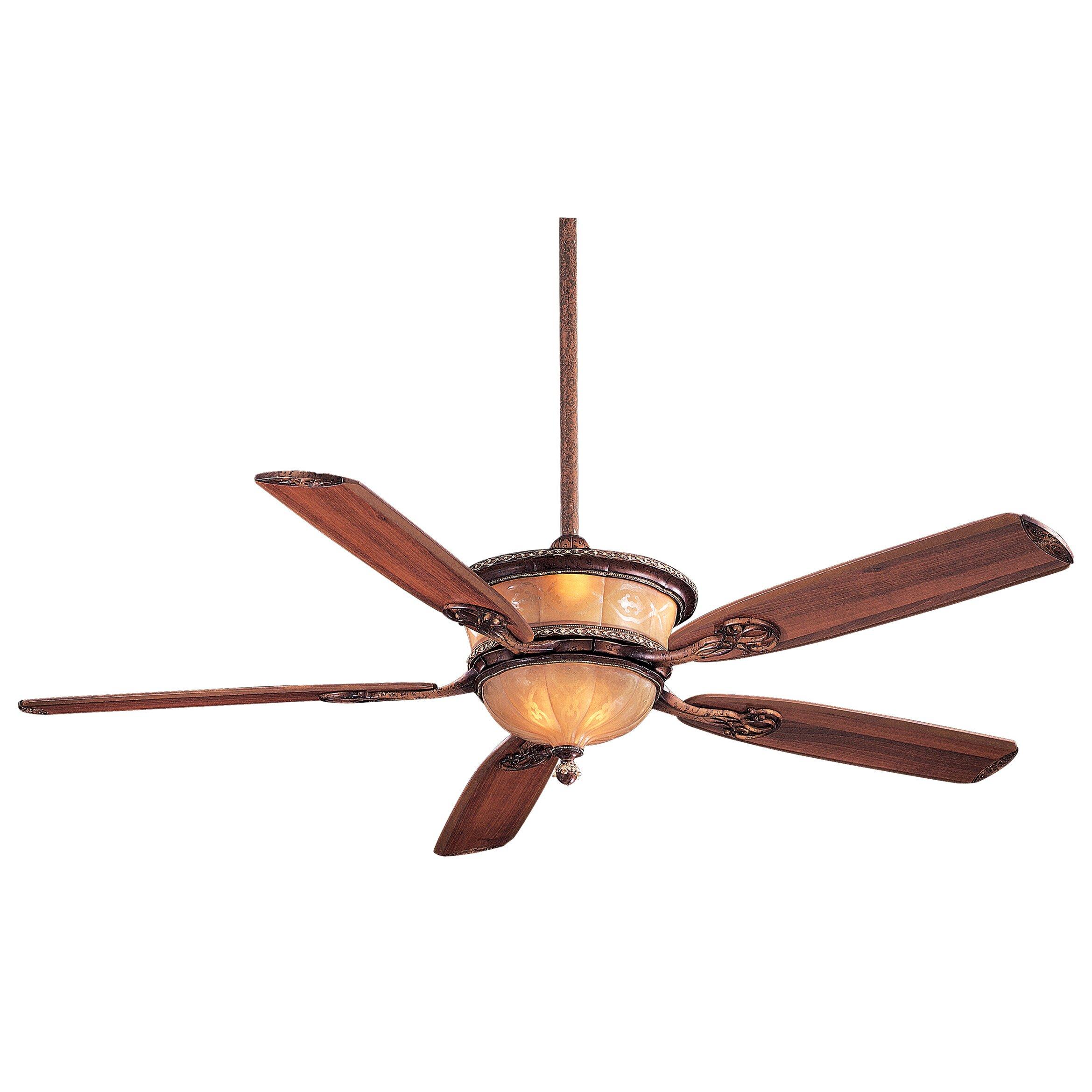 "Ceiling Fan Minka Aire: Minka Aire 60"" Hearst Castle Santa Lucia 5 Blade Ceiling"