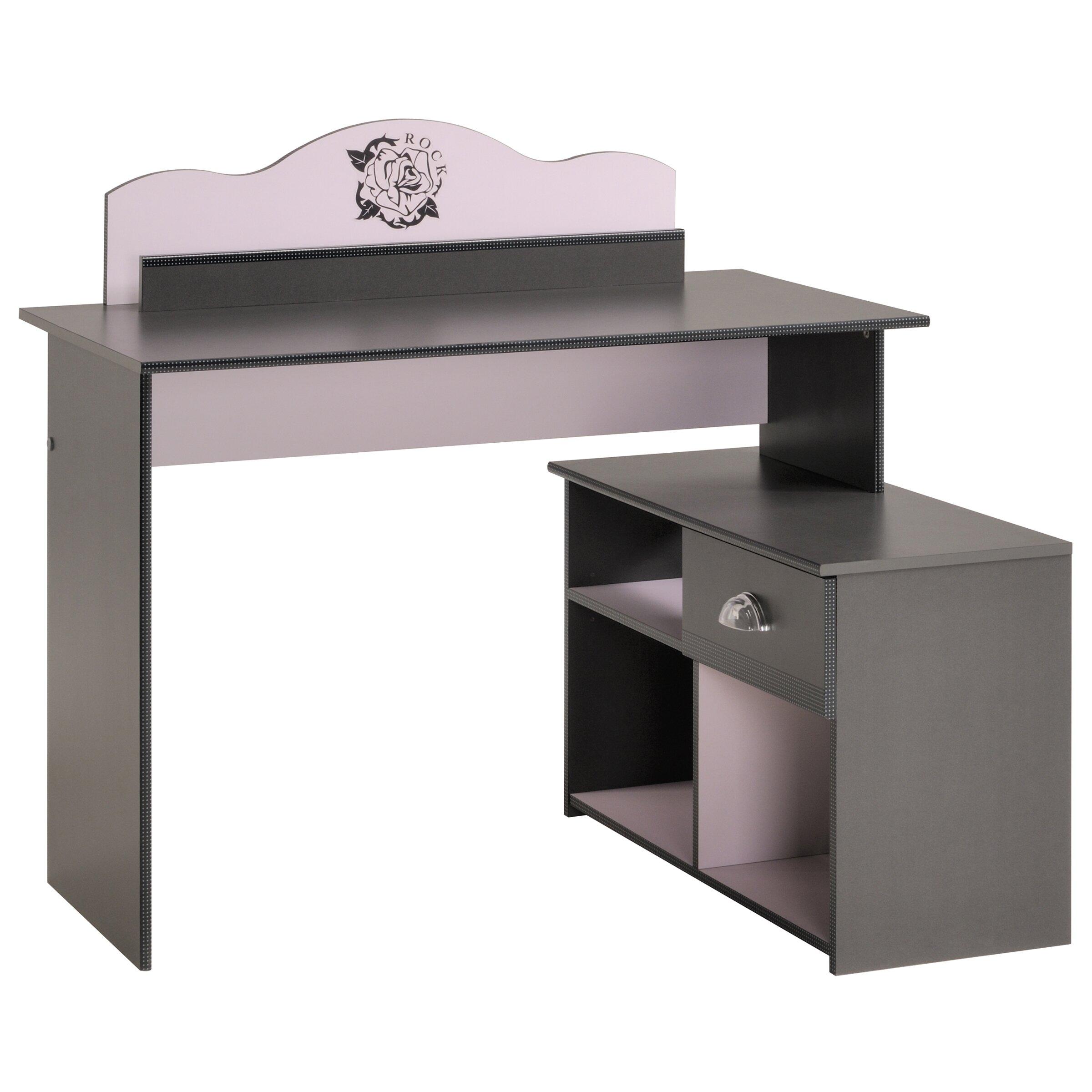 schreibtisch tatoo mit regal von parisot. Black Bedroom Furniture Sets. Home Design Ideas