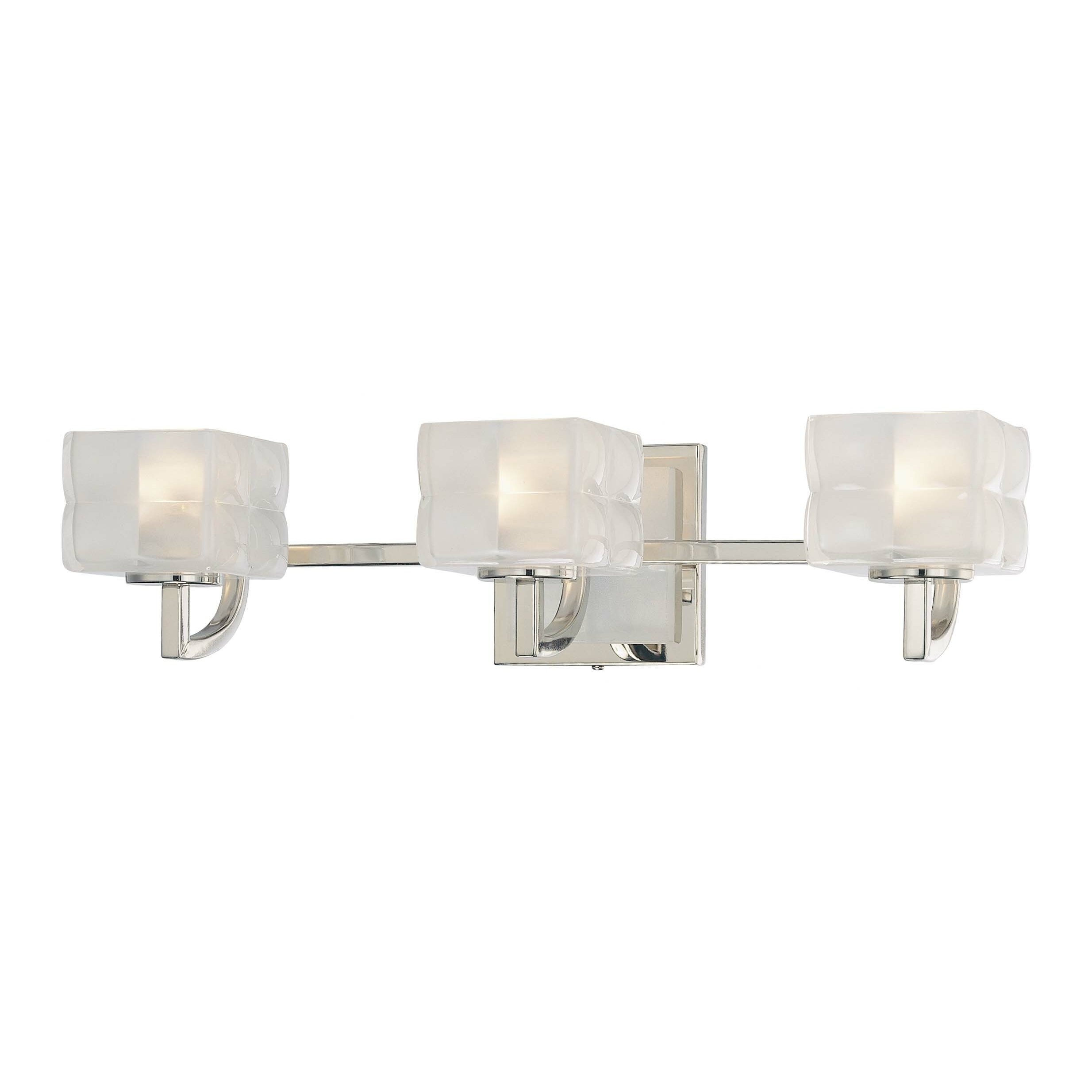 Bathroom Vanity Lights Kovacs : George Kovacs Squared 3 Light Vanity Light & Reviews Wayfair