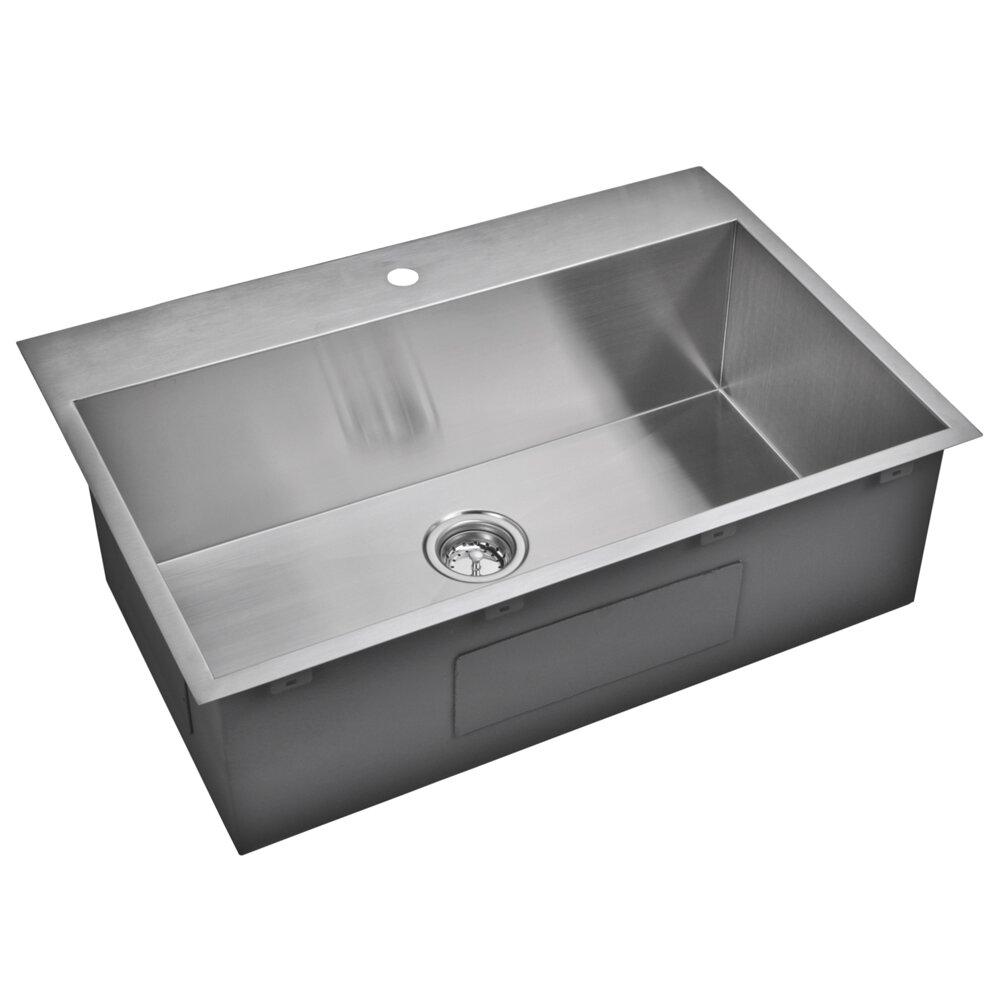 Single Sink Kitchen : Kitchen Sinks Water Creation Part #: SSSG-TS-3322A SKU: YWC1354
