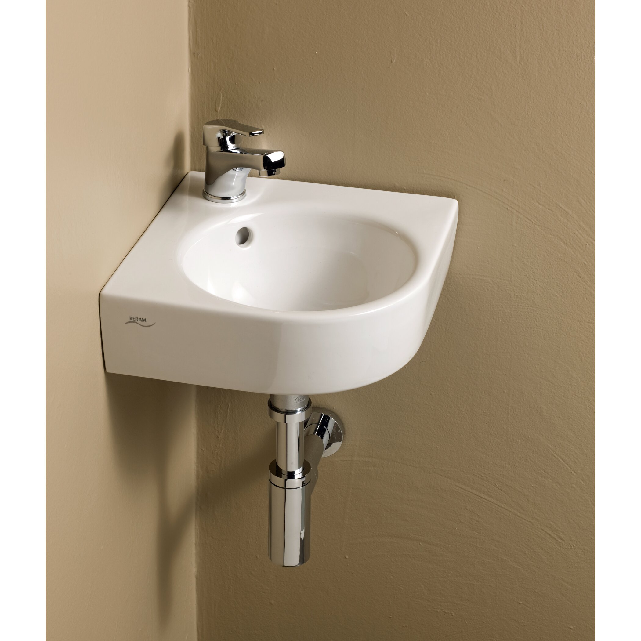 Elements Comprimo Corner Bathroom Sink by Bissonnet