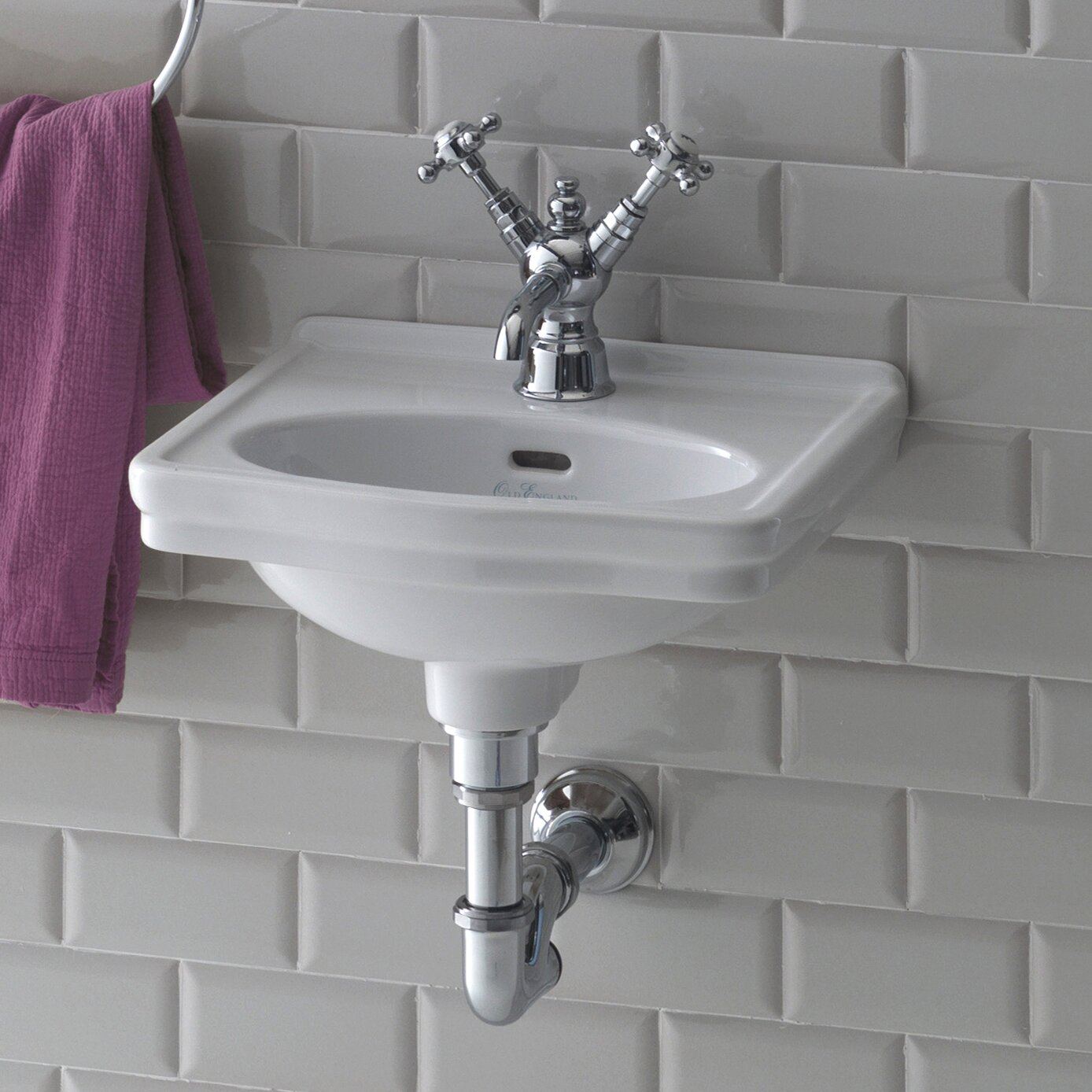 Bissonnet Evo Londra Wall Mounted Bathroom Sink & Reviews