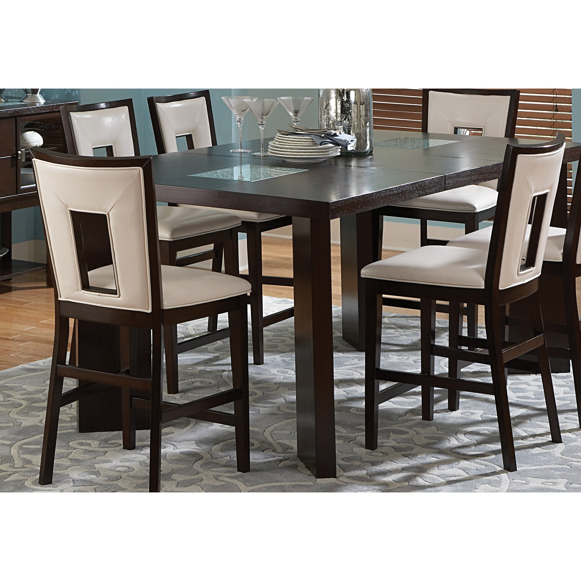 Steve Silver Furniture Delano Counter Height Extendable Dining Table ...