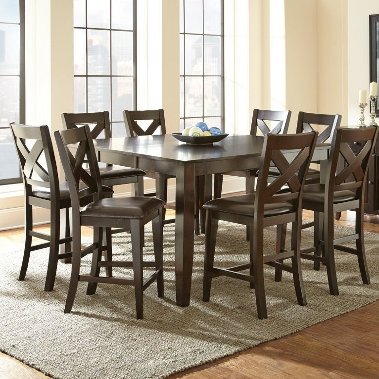 ... Silver Furniture Crosspointe Counter Height Extendable Dining Table