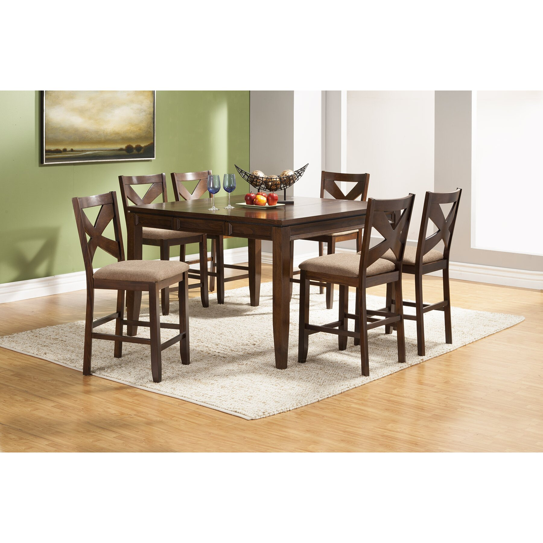 Alpine furniture albany 7 piece counter height dining set for Furniture 7 reviews