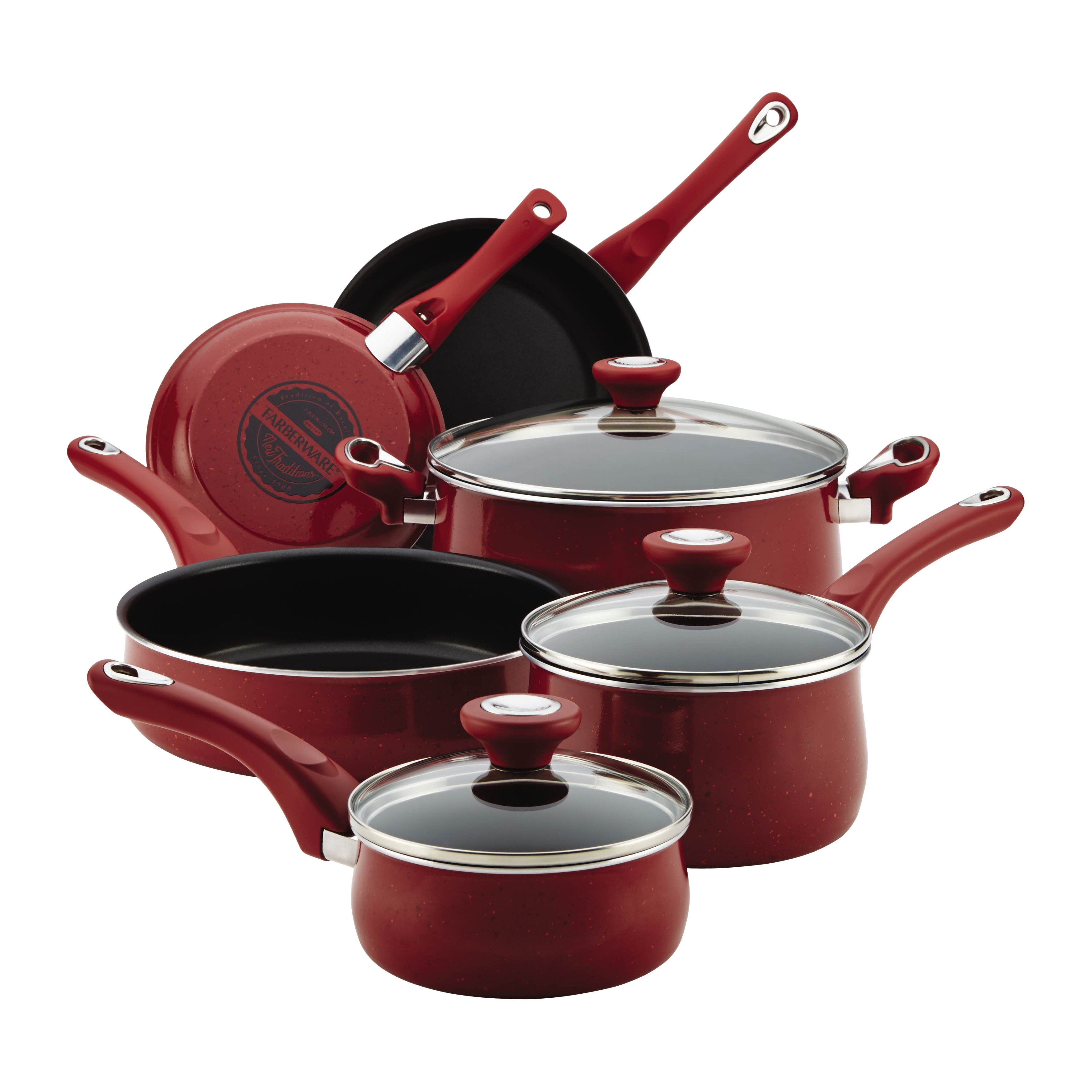 Farberware New Traditions 12 Piece Cookware Set & Reviews ...