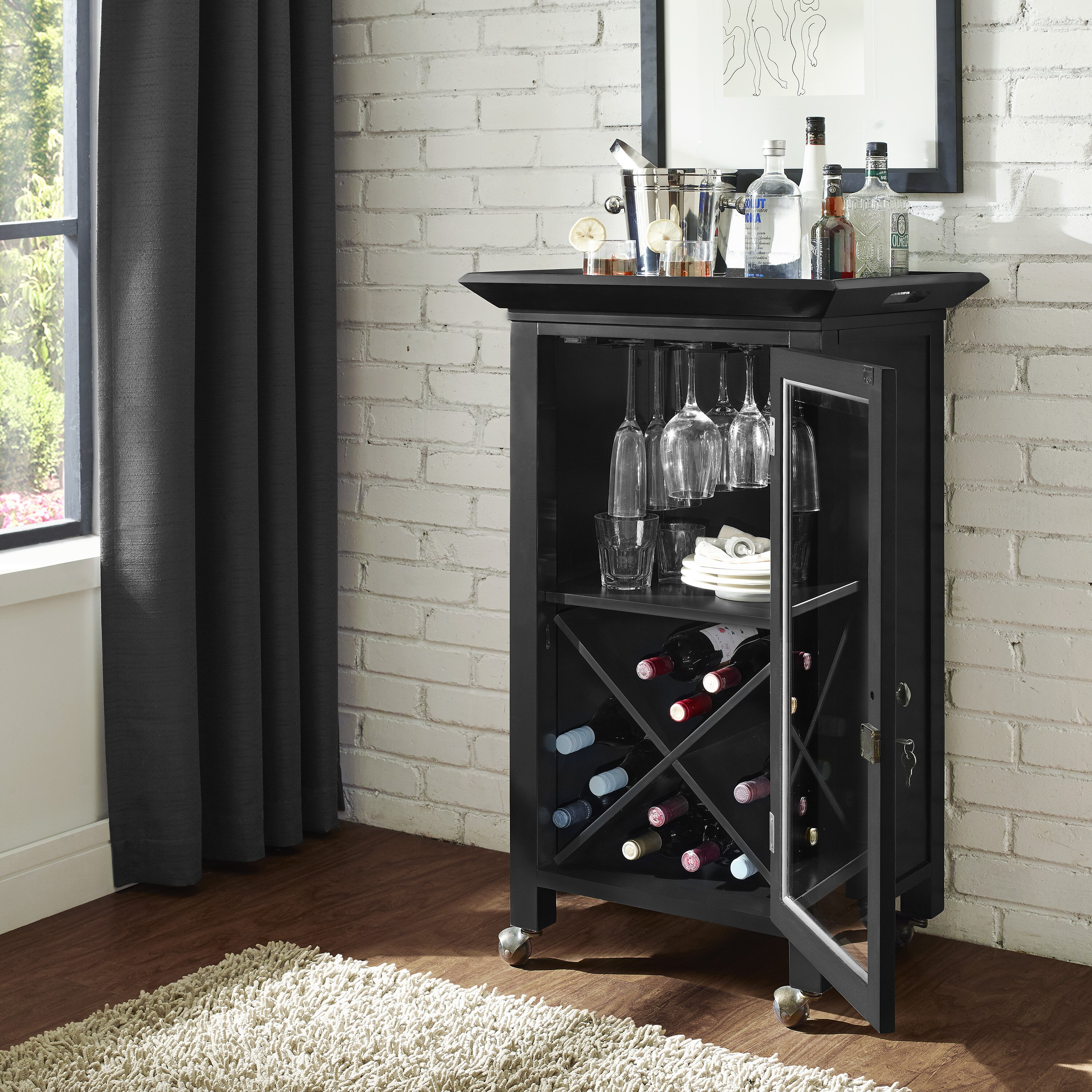 Movable Cabinet 1 4 A 1 4 A Movable Kitchen Cabinets India: Crosley Jefferson Portable Bar Cabinet & Reviews