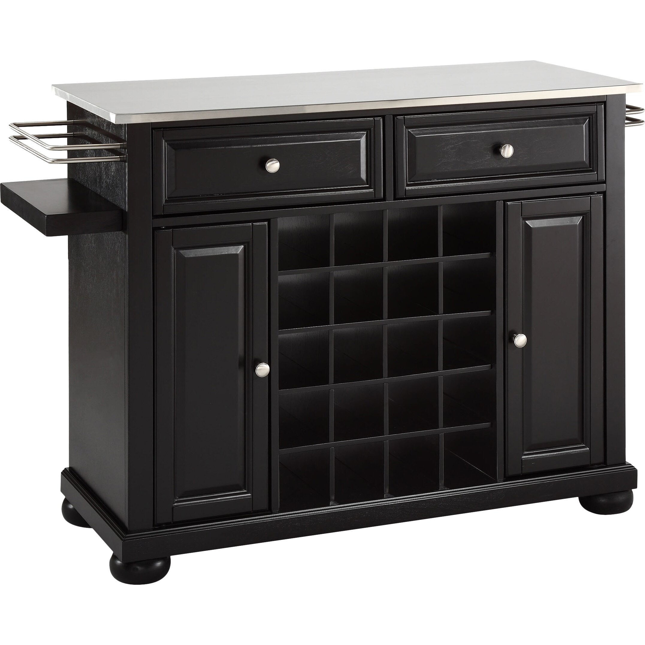kitchen island stainless top crosley alexandria kitchen island with stainless steel top 5163