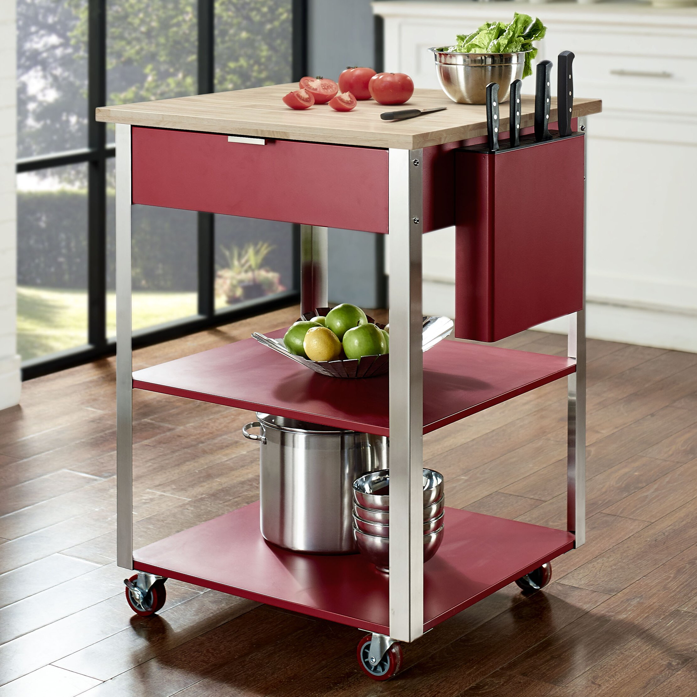 Crosley Kitchen Cart With Butcher Block Top Reviews Wayfair