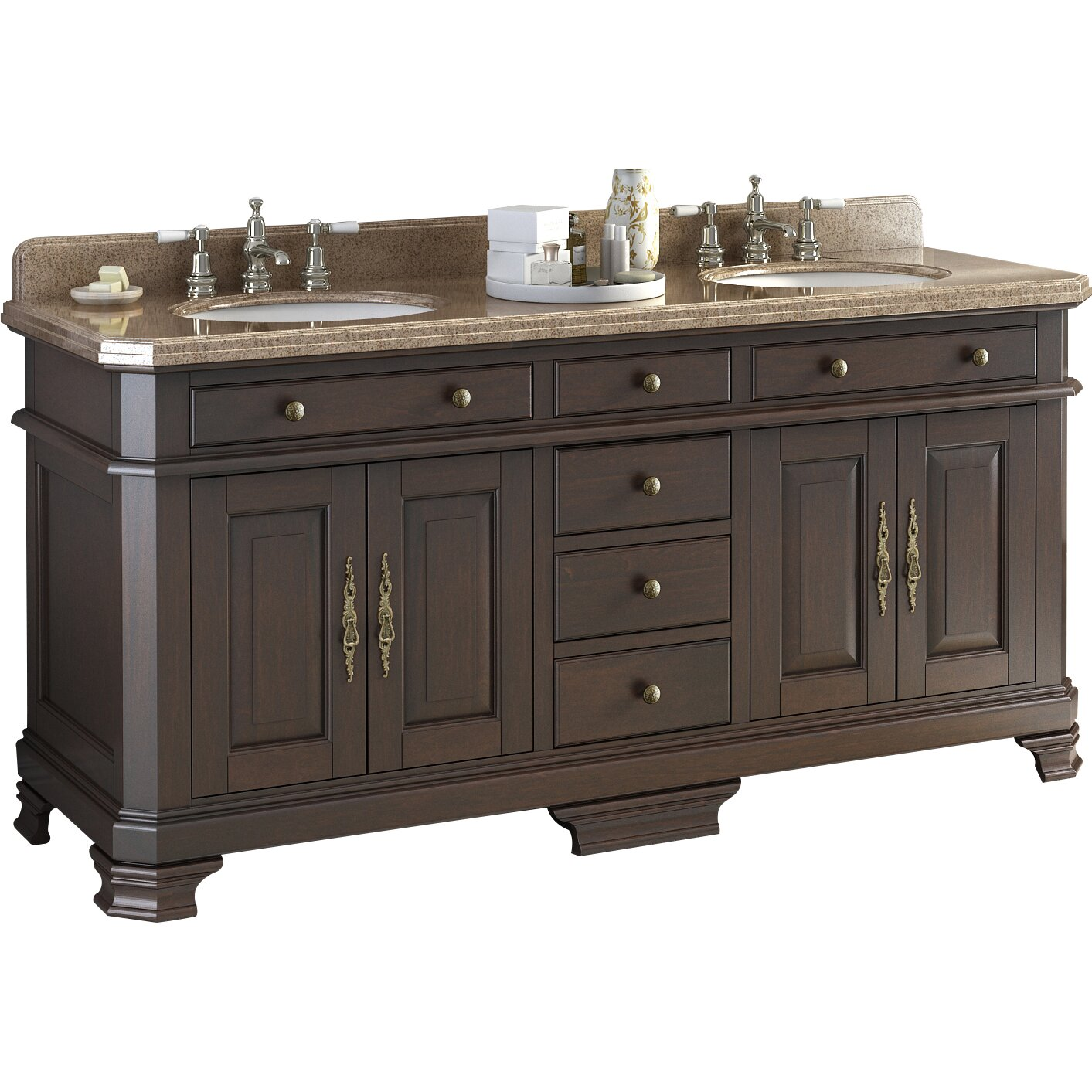 Lanza Perkin 72 Double Bathroom Vanity Set Reviews Wayfair