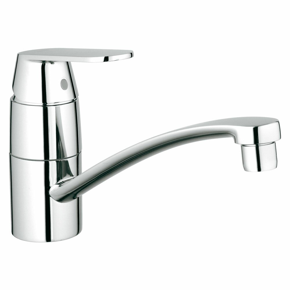 eurosmart single handle deck mount kitchen faucet with side spray