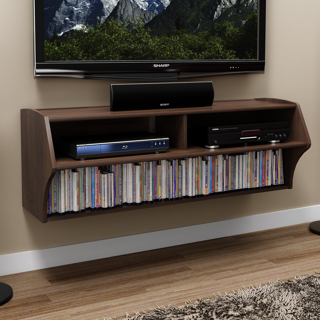 prepac altus wall mounted audio video console reviews. Black Bedroom Furniture Sets. Home Design Ideas