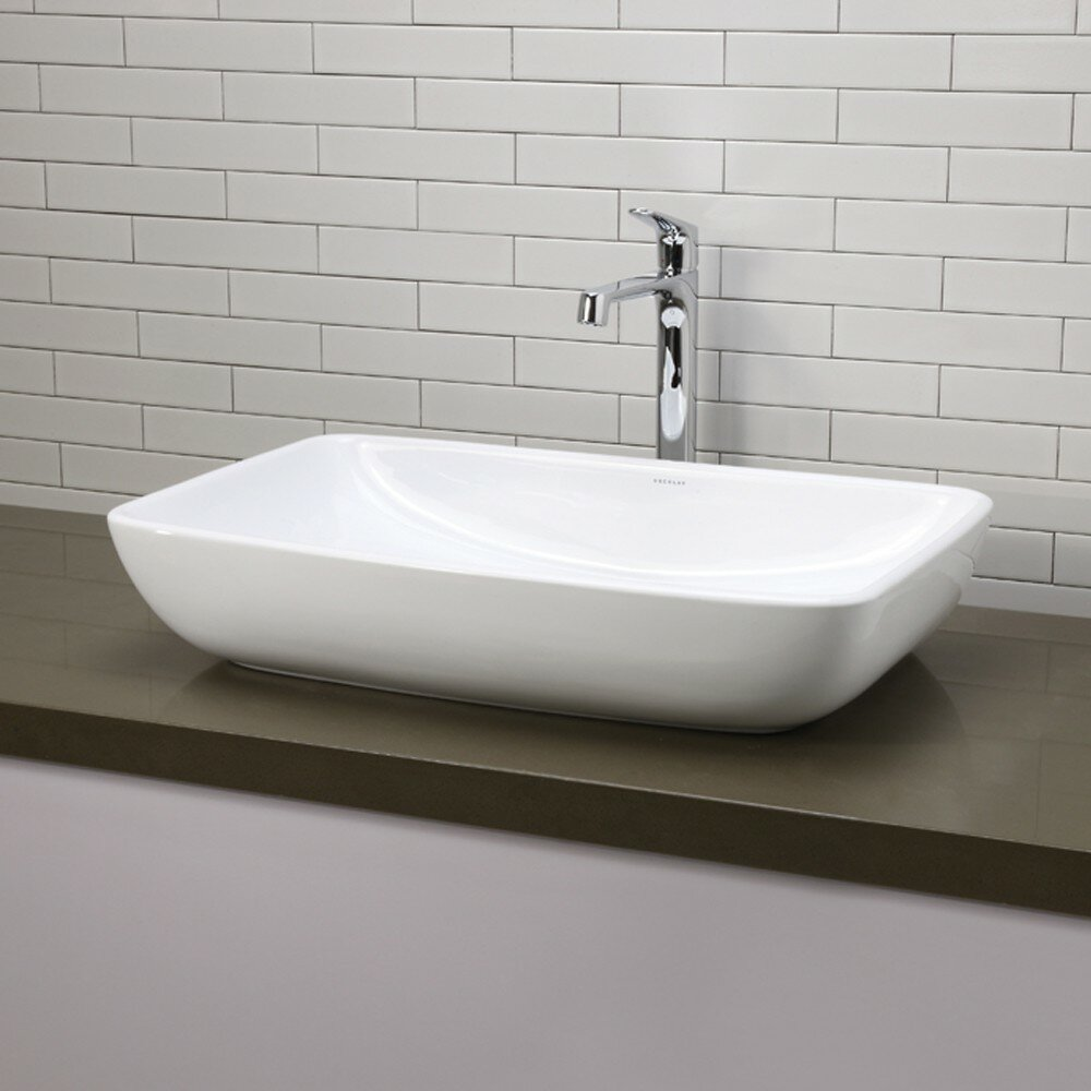 decolav bathroom sinks decolav classically redefined rectangular vessel bathroom 12632