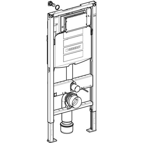 Geberit in wall tank and carrier wayfair for Geberit tank