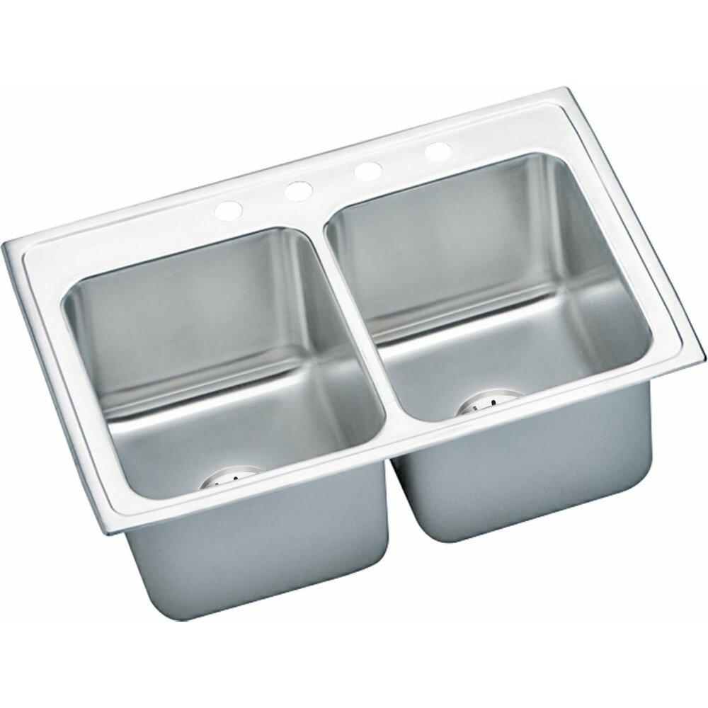 Top Mount Kitchen Sinks : Gourmet 33