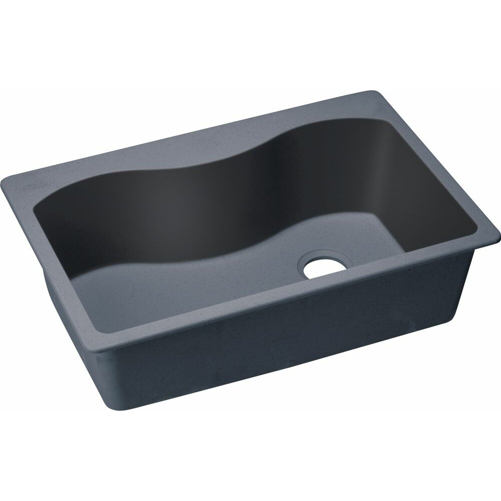"Elkay Quartz Classic 33"" x 22"" Kitchen Sink & Reviews"