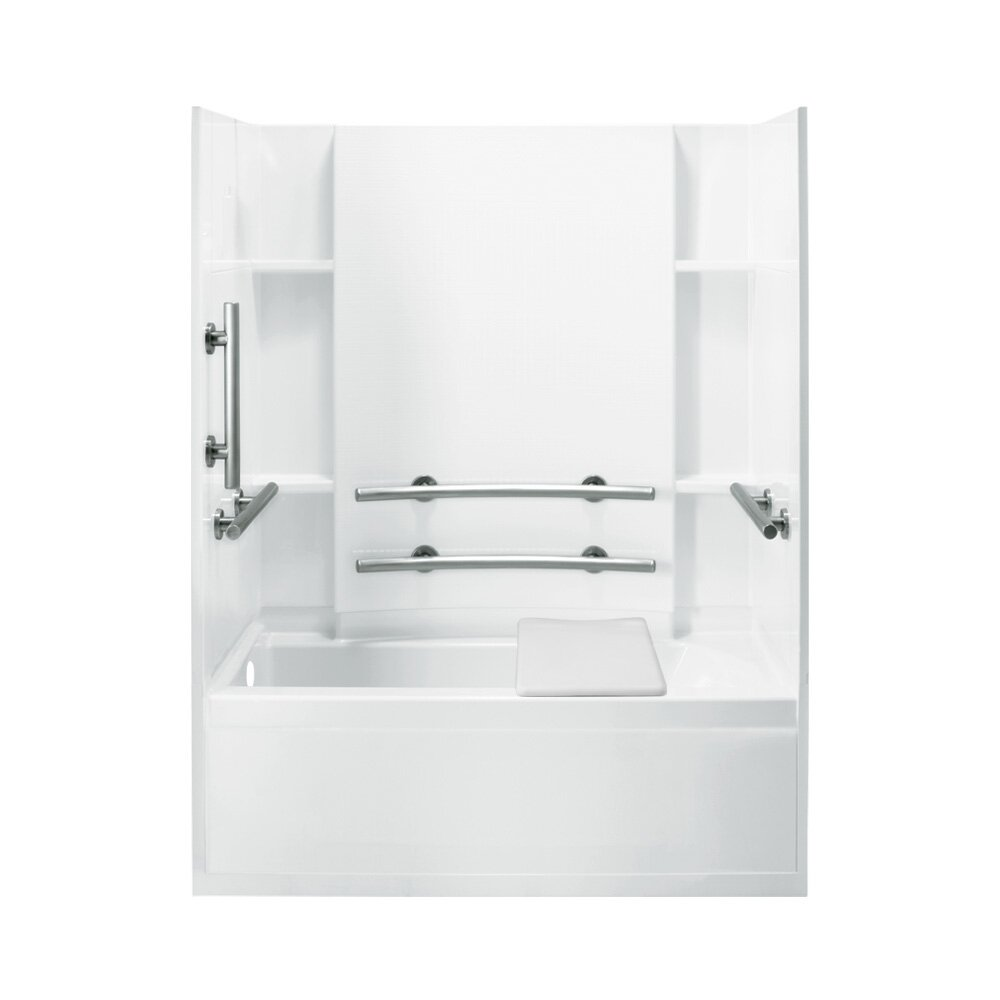 Accord Ada 32 Quot Bath Shower Kit With Left Hand Drain Wayfair