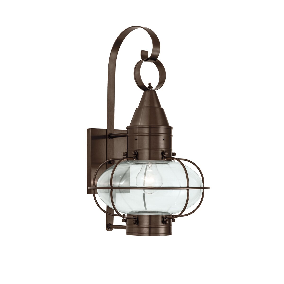 norwell lighting classic onion 1 light outdoor wall lantern reviews. Black Bedroom Furniture Sets. Home Design Ideas