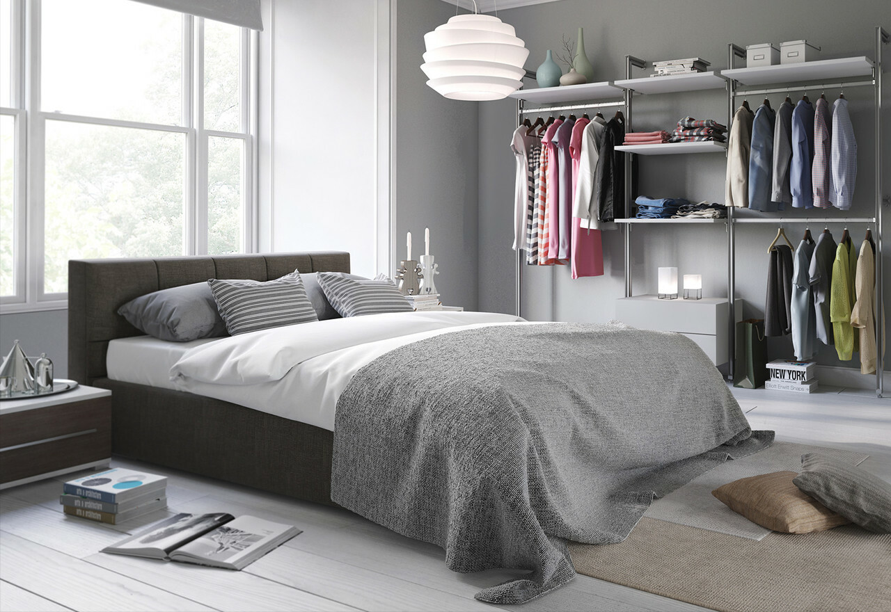 minimalist makeover bedroom closet storage sale allmodern